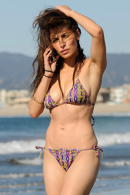 Sarah Shahi Bikini on beach