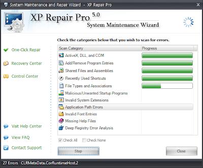 Window xp file repair software