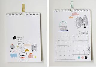 Kanelimaan seinäkalenteri vuodelle 2013