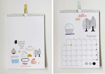 Kanelimaan design kalenteri uusi vuosi 2013