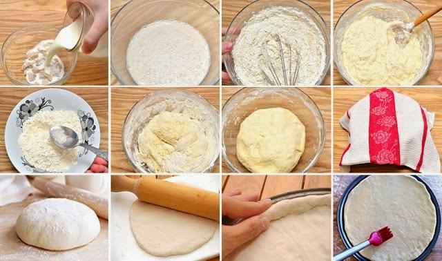 masa de pizza receta casera pasos 2-13
