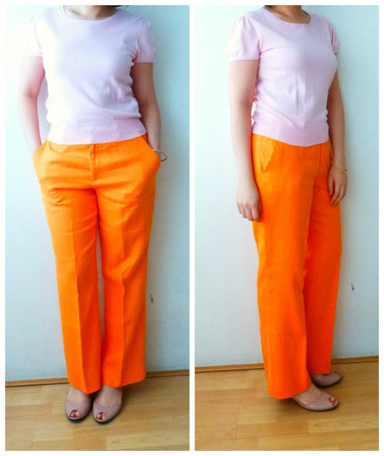 pink-RL-knit-orange-pants