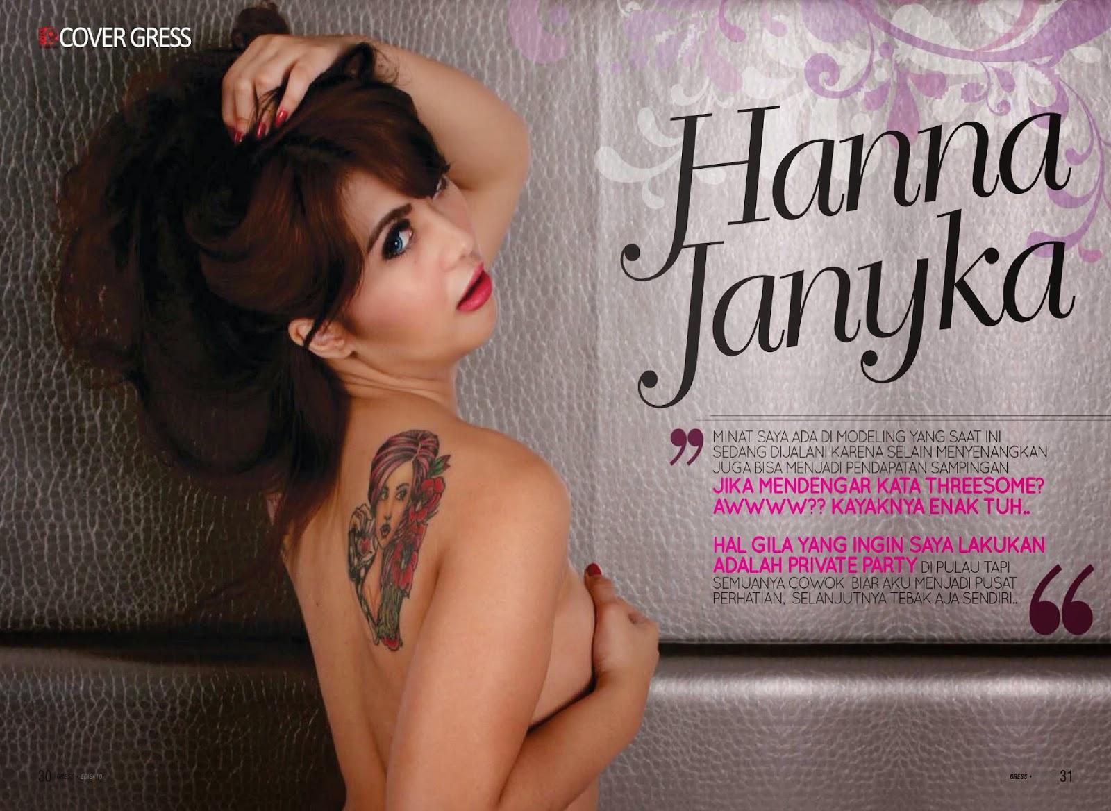 foto ngentot memek  bugil mesum Hanna Janyka Hot On Gress Magazine