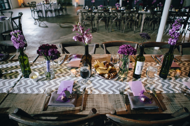 reception tables at american spirit works