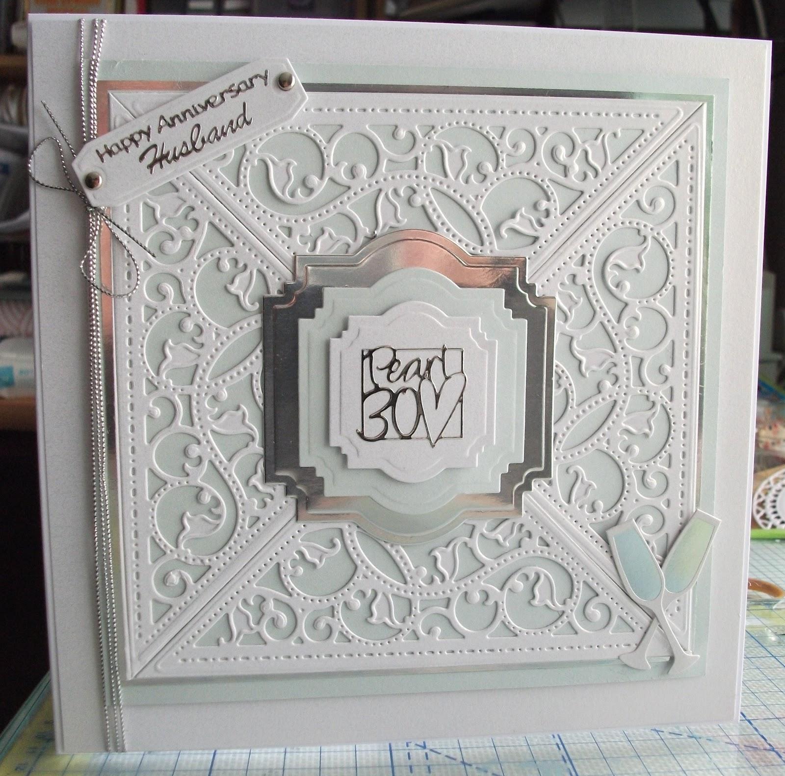 Annies Crafty Attic Pearl Anniversary Card