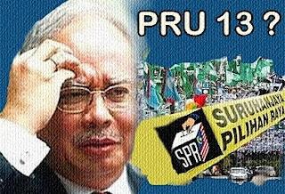 Najib takut dan lewat bubar Parlimen