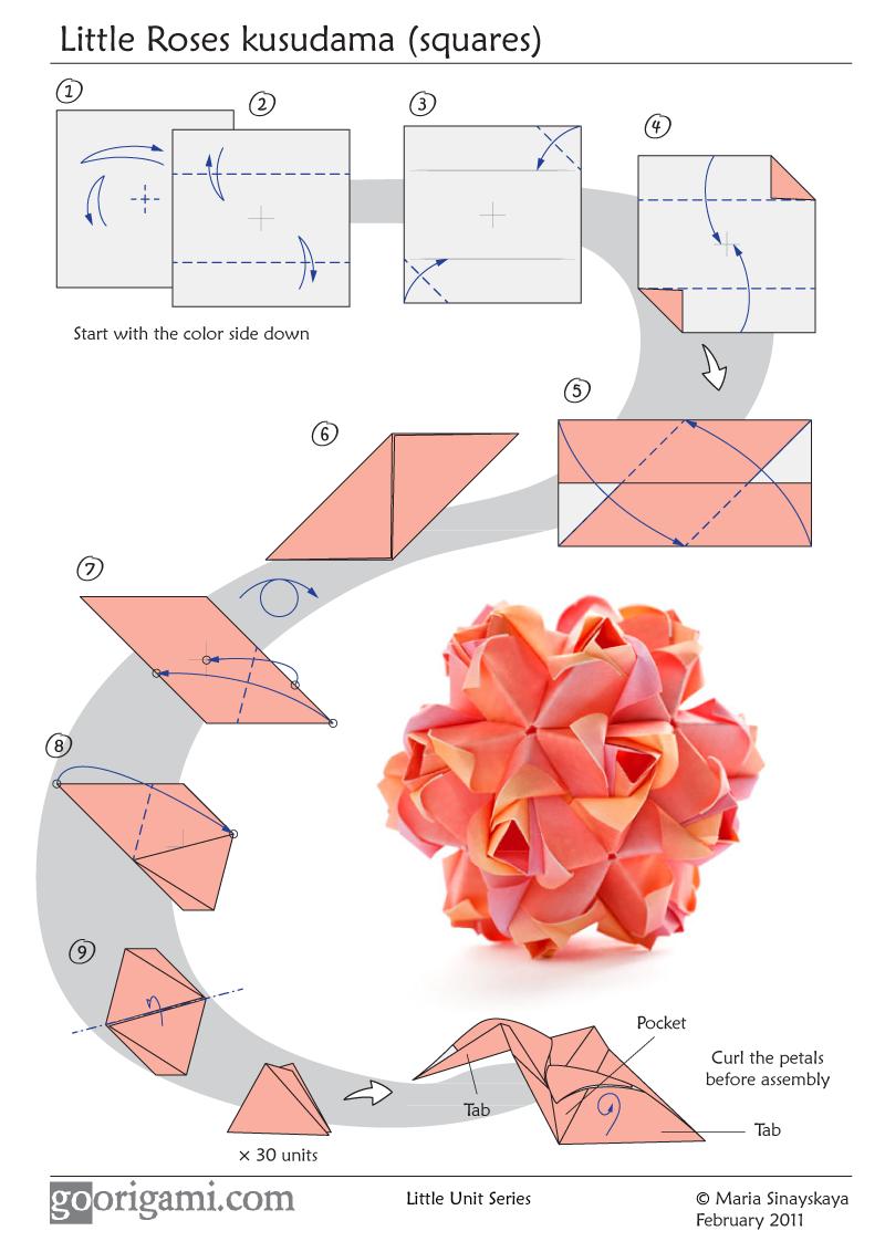 Как сделать оригами кусудама из бумаги