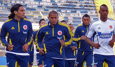 Colombia realizó su primer entrenamiento en Chile