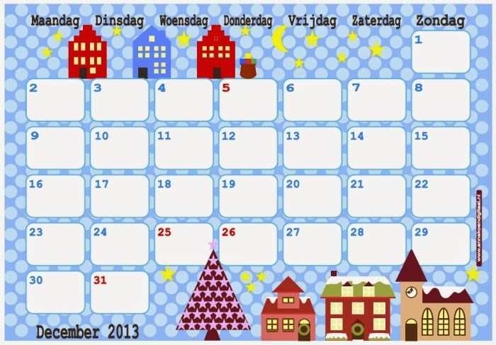 Kalender Januari 2014 Maandkalender 2014 Kalender Januari 2014