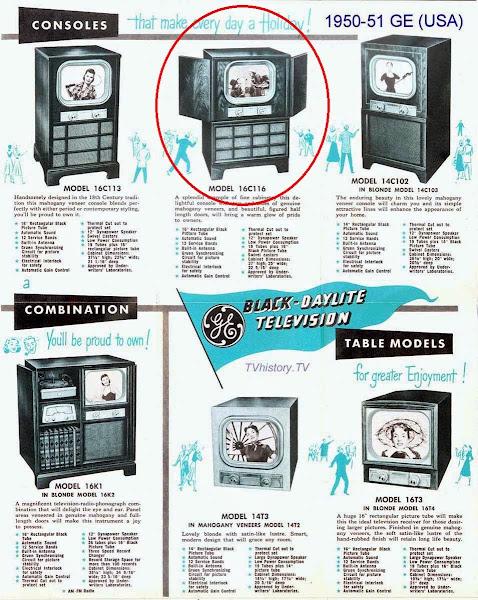1950-51 GE Television Brochure