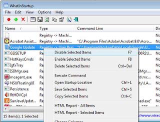 Whatinstartup: Membuat Windows Loading lebih cepat