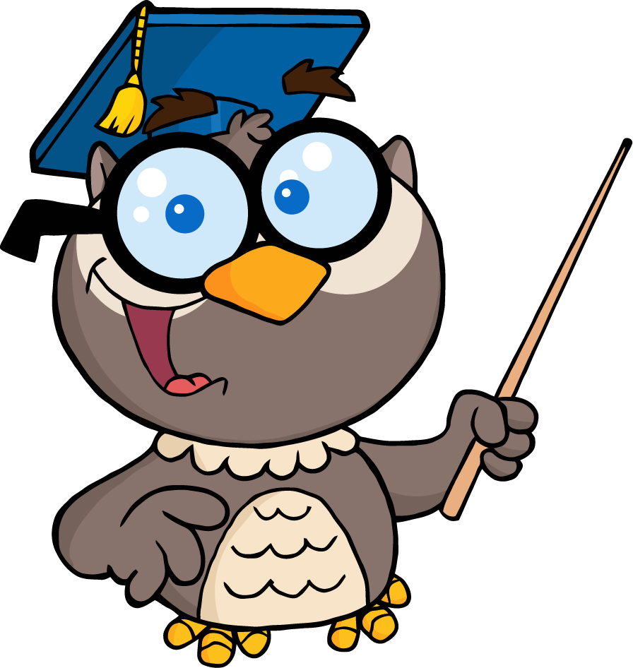 png 4299-Owl-Teacher-Cartoon-Character-With-Graduate-Cap-And-Pointer    Owl Teacher Cartoon