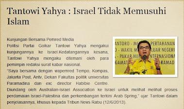 Tantowi Yahya : Israel Tidak Memusuhi Islam