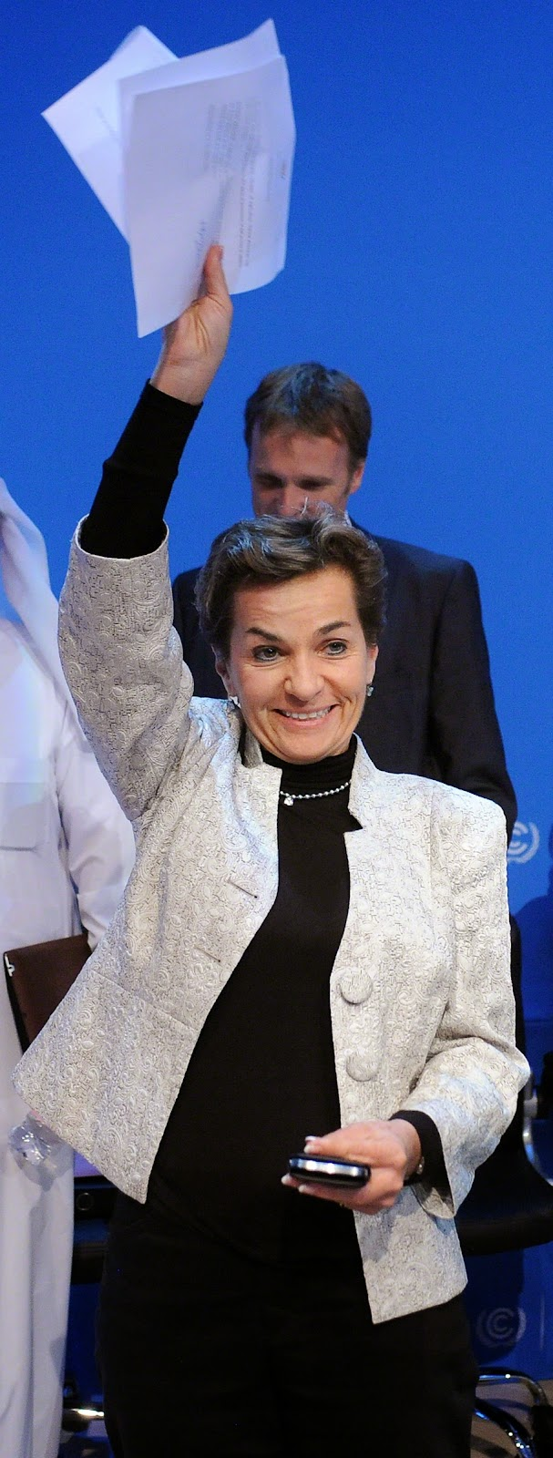 Christiana Figueres in Doha.