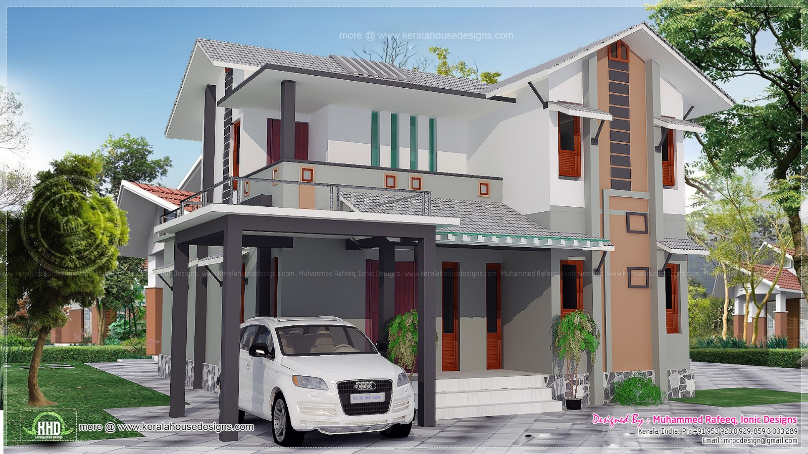 Me building plan with elevation joy studio design for 4 bhk villa interior design