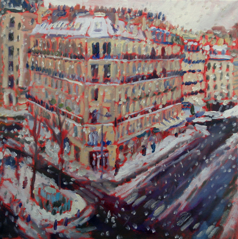 Acrylic Paintings Snow On Mail Box