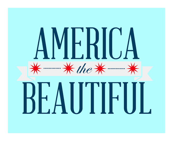 America The Beautiful Printable