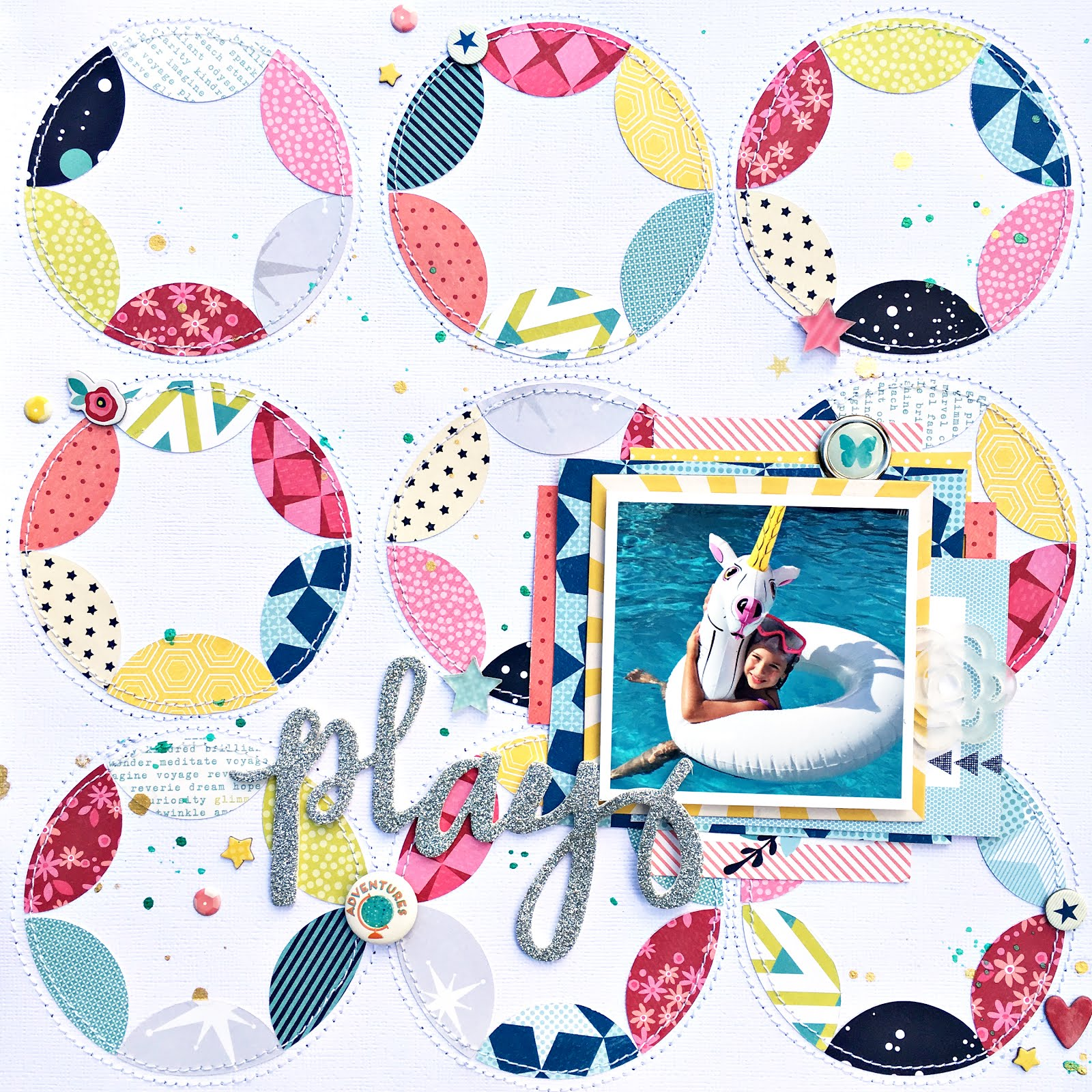 heather leopard  play scrapbook layout and free silhouette