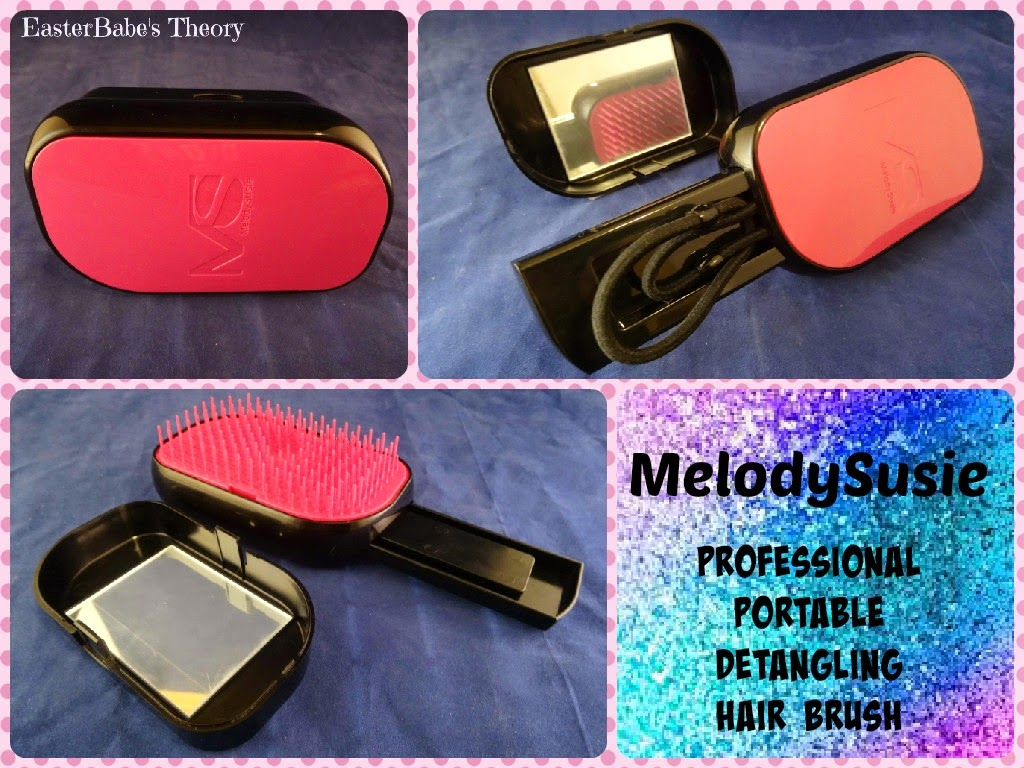 MelodySusie Professional Portable Detangling Hair Brush with Mirror and Compact Handle Review