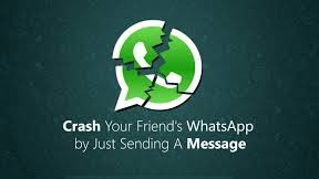how to crash whatsapp remotely just sent one message