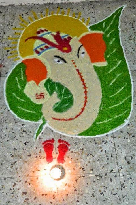 Ganesha Rangoli 40