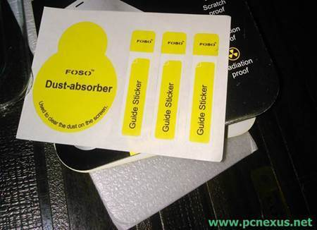 mobile screen dust absorber sticker