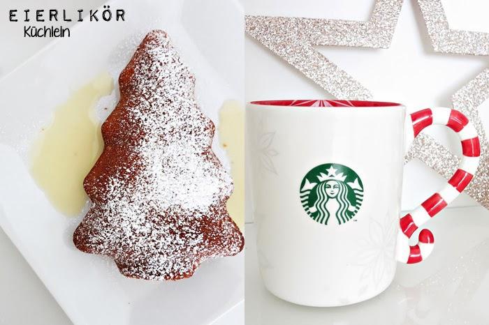 Eierlikörküchlein + Starbucks Candy Cane Tasse