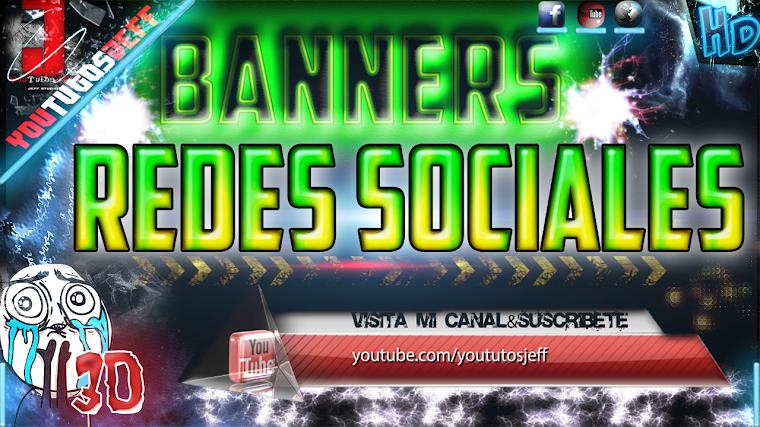 BANNERS DE REDES SOCIALES EN 3D   2015