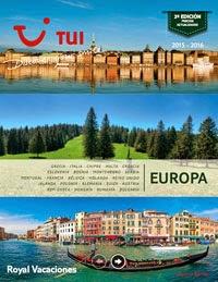 Catálogo Tui Royal Vacaciones Europa 2015 - 2016