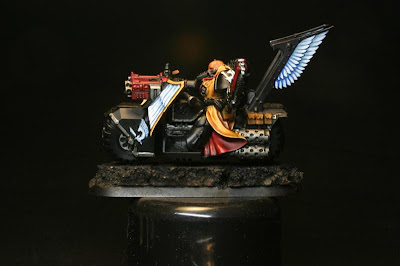 Luces con blanco de Vallejo Model Color en los Motoristas del Ala de Muerte de los Ángeles Oscuros