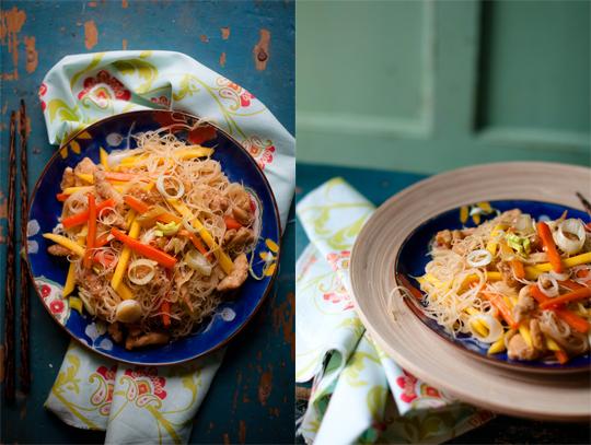 Thai chicken & mango stir-fry