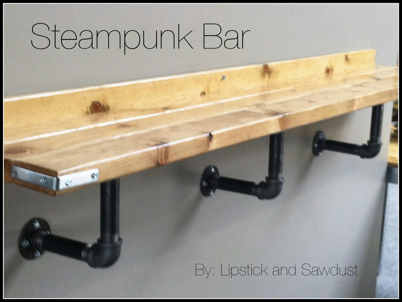 Lipstick and sawdust easy steampunk bar ledge tutorial