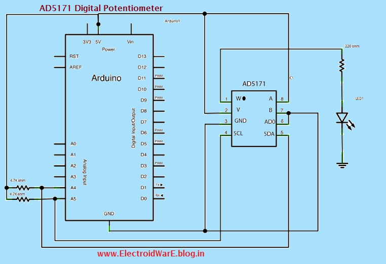 electronics projects and details ad5171 digital potentiometer
