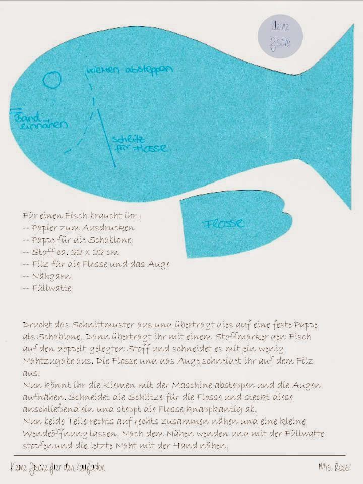 Fine Fisch Schnittmuster Mold - Decke Stricken Muster ...