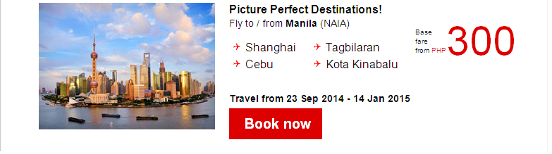 AirAsia: 1,500,000 Seats On Sale! Fares from PHP200!