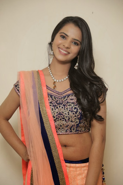 Telugu Actress Manasa Himavarsha Latest  Picture Gallery in Half Saree 0013.jpg