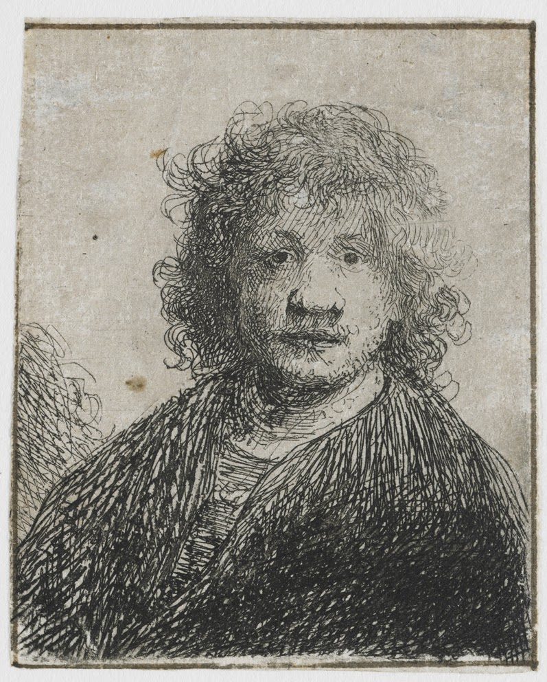 art artists rembrandt part  rembrandt 1626 30 self portrait wide nose etching on paper 7 1 x 5 9 cm
