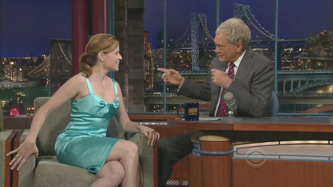 Jenna fischer the late show with david letterman 2008 06 06