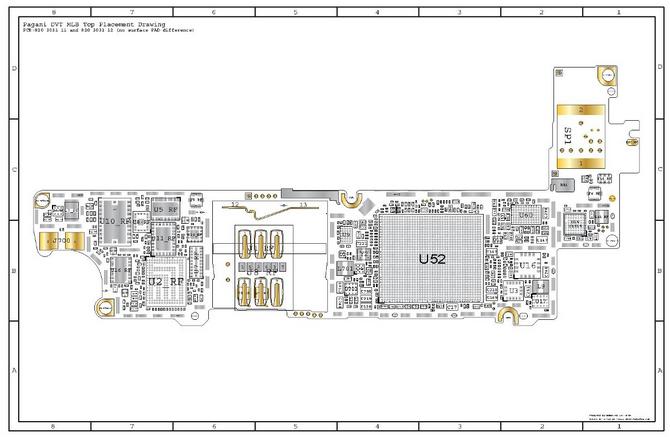 Айфон 4s схема платы и обозначения