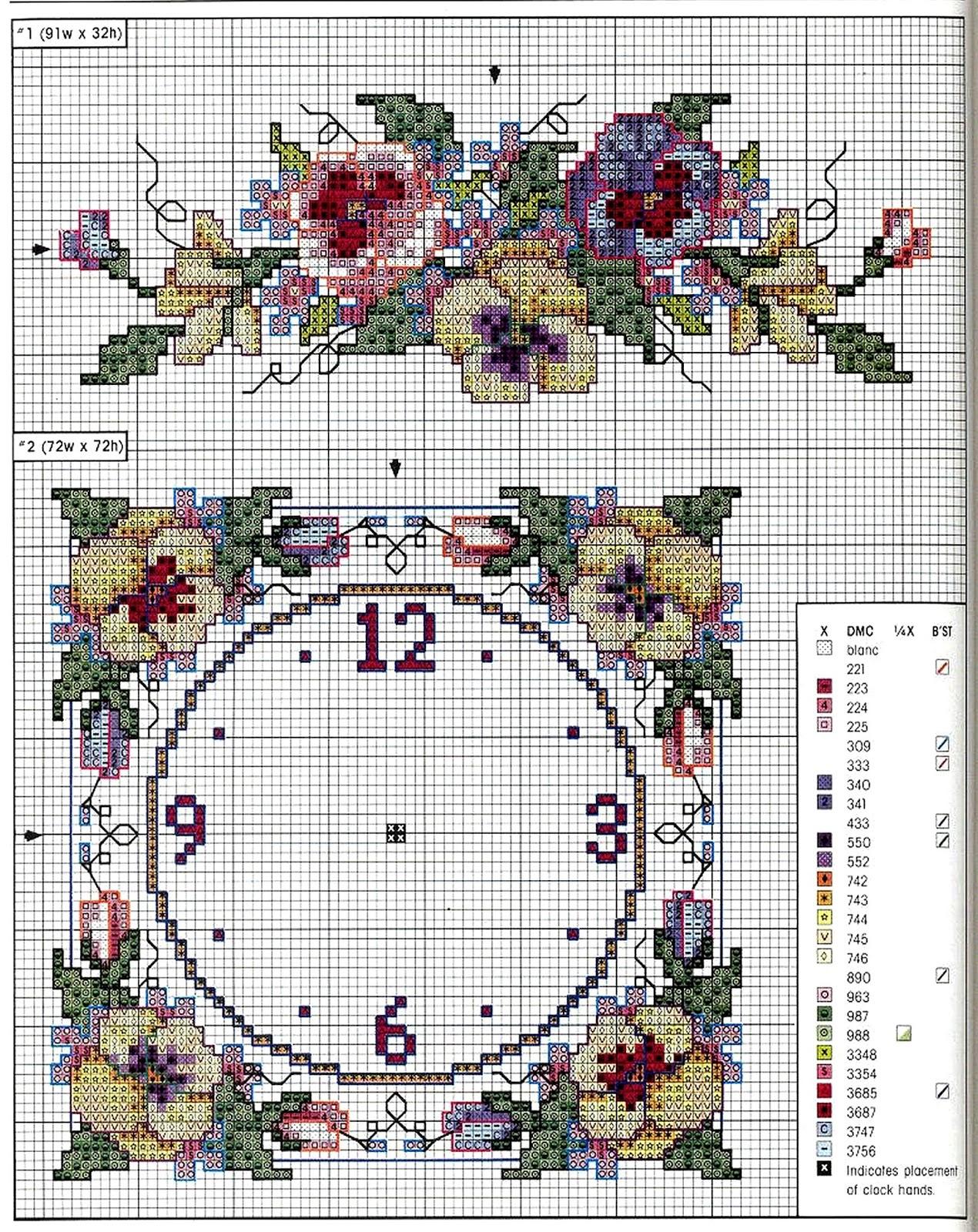 Grande raccolta di schemi e grafici per punto croce free for Orologio punto croce schemi gratis