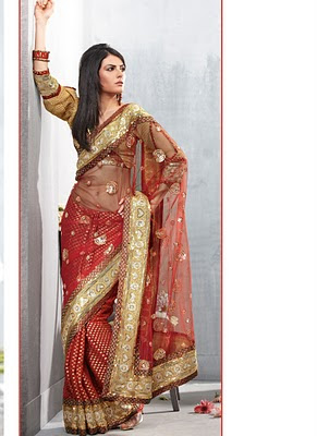 Beautiful Stylish Party Wear Sarees Designs For Girls