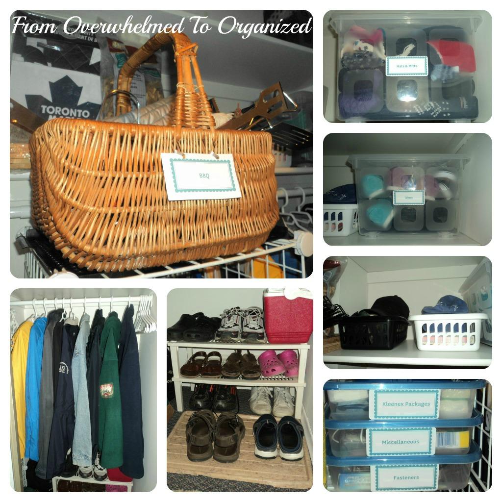 Organizing Our Hall Closet