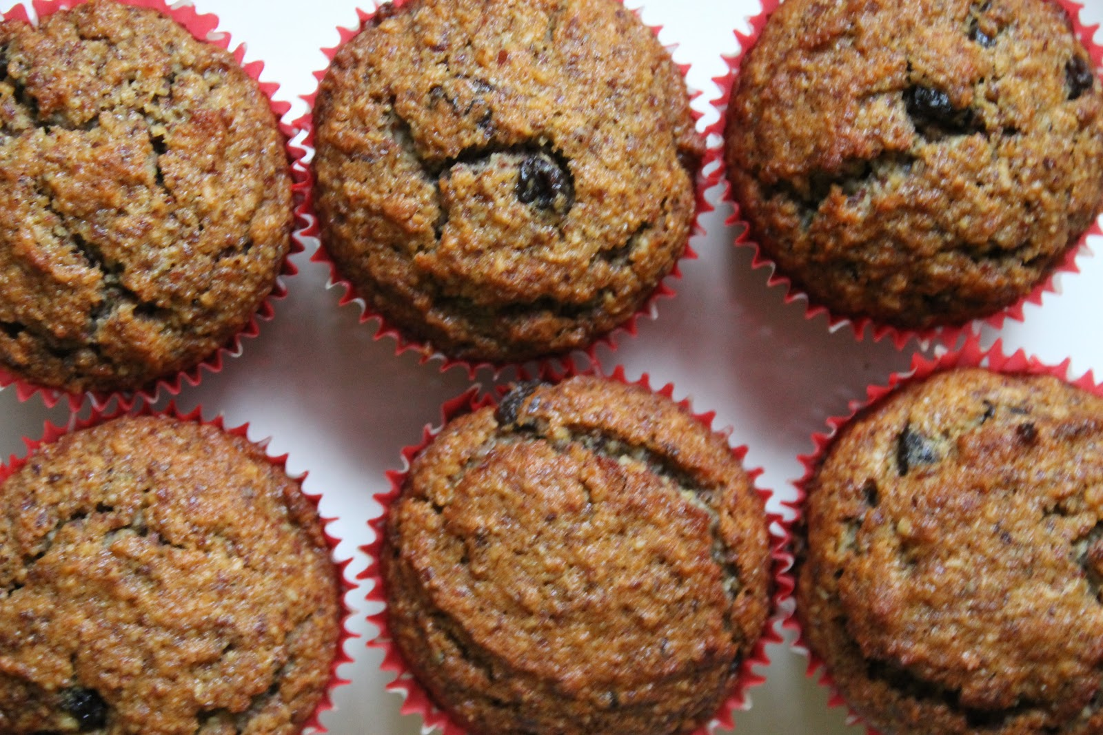 "The Almond Flower: Raisin ""Bran"" Muffins with Coconut Oil"