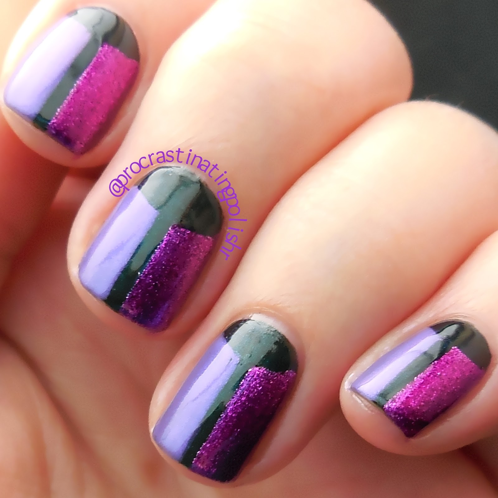 Tri Polish Tuesday - Green, Pink & Purple