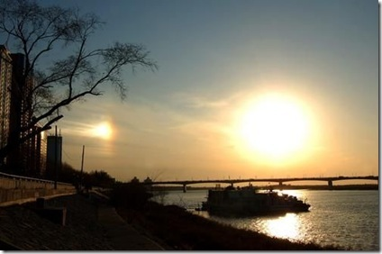 Two Suns over Harbin, China