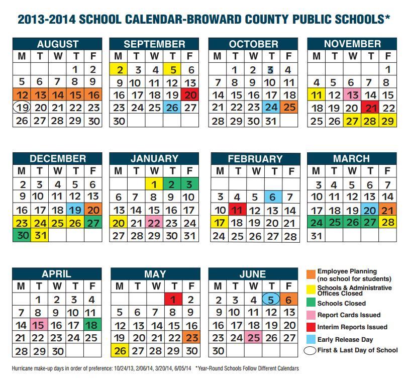 Broward County Florida School Schedule