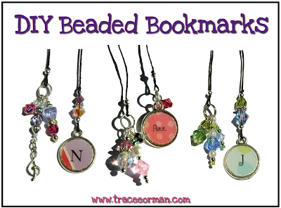 DIY Beaded Bookmarks for Teachers, Librarians, Readers www.traceeorman.com