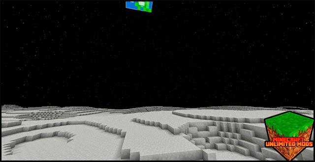 GalactiCraft Mod la Luna