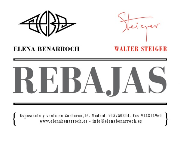 Elena Benarroch y Walter Steiger empiezan sus Rebajas
