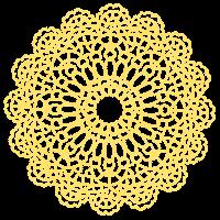 ドイリーのイラスト「黄色」